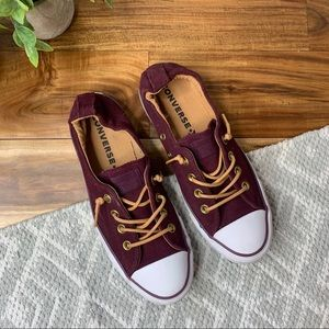 Worn Once CONVERSE Shoreline Burgundy Shoes